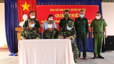 Huyện Gò Dầu quán triệt nhiệm vụ động viên huấn luyện, diễn tập, kiểm tra sẵn sàng động viên lực lượng quân nhân dự bị năm 2021