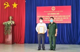 Thị xã Hoà Thành: Thành lập Hội CCB cơ sở ngoài doanh nghiệp nhà nước