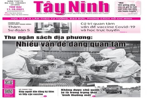 Điểm báo in Tây Ninh ngày 11.10.2021