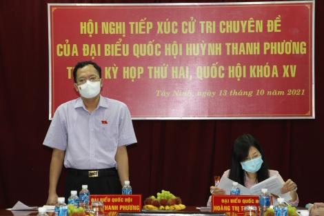 ĐBQH Huỳnh Thanh Phương tiếp xúc cử tri chuyên đề phòng chống, xâm hại trẻ em