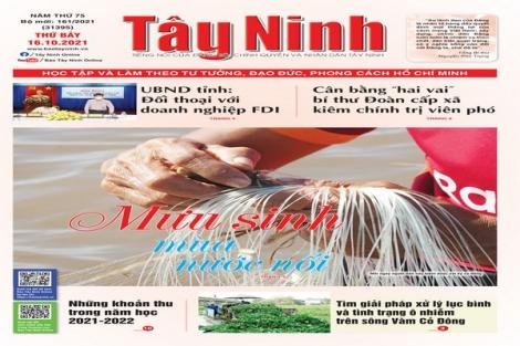 Điểm báo in Tây Ninh ngày 16.10.2021