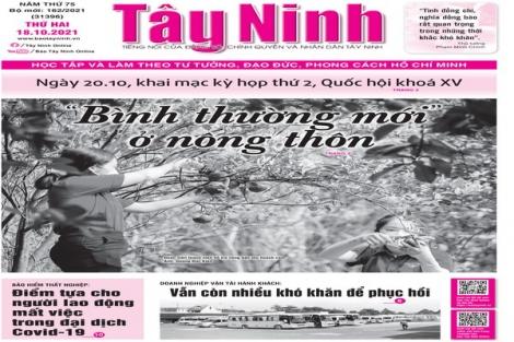 Điểm báo in Tây Ninh ngày 18.10.2021