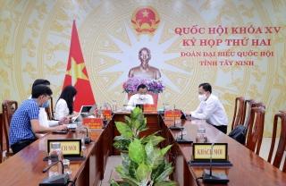 Đoàn ĐBQH đơn vị tỉnh thảo luận hai dự án luật