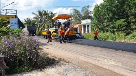 Châu Thành: Cải tạo và nâng cấp tuyến đường huyện 9