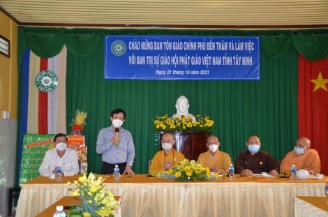Ban Tôn giáo Chính phủ:  Thăm và làm việc tại Tây Ninh
