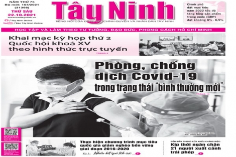 Điểm báo in Tây Ninh ngày 22.10.2021