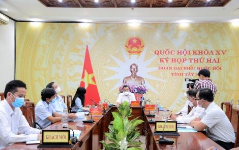 Đoàn ĐBQH đơn vị tỉnh thảo luận về vấn đề phát triển kinh tế - xã hội và các Dự án luật