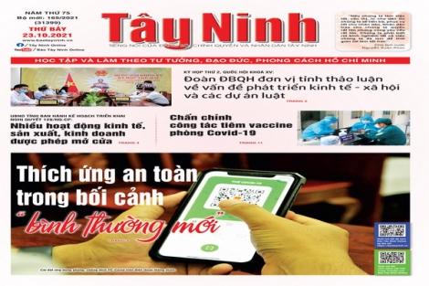 Điểm báo in Tây Ninh ngày 23.10.2021