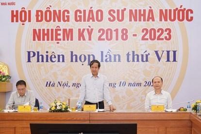 Thành lập 28 hội đồng giáo sư ngành, liên ngành năm 2021