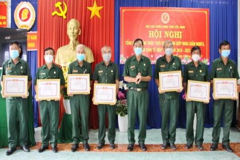 Hội Cựu chiến binh tỉnh: Tổng kết phong trào Cựu chiến binh giúp nhau giảm nghèo, làm kinh tế giỏi giai đoạn 2016 - 2021