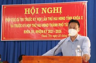 Chủ tịch UBND tỉnh tiếp xúc cử tri thành phố Tây Ninh trước kỳ họp