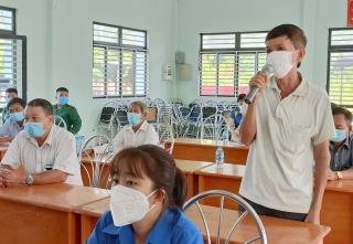 Đại biểu HĐND tỉnh, huyện tiếp xúc cử tri xã Tân Hưng và Tân Phú