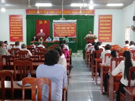 Đại hiểu HĐND tỉnh, huyện tiếp xúc cử tri tại xã Phước Đông